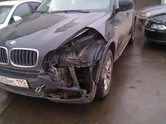 BMW восстановление переднего бампера и крыла