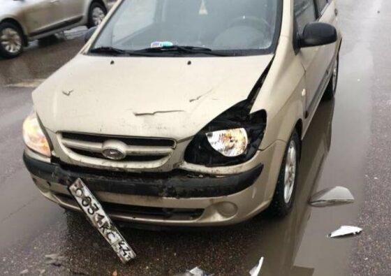 Hyundai восстановление и покраска переднего бампера и капота