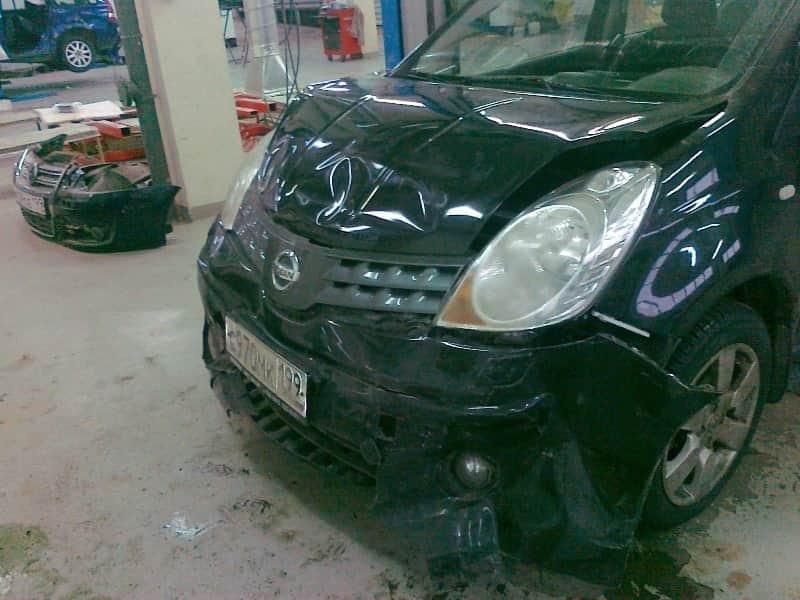 Nissan до ремонта бампера фото