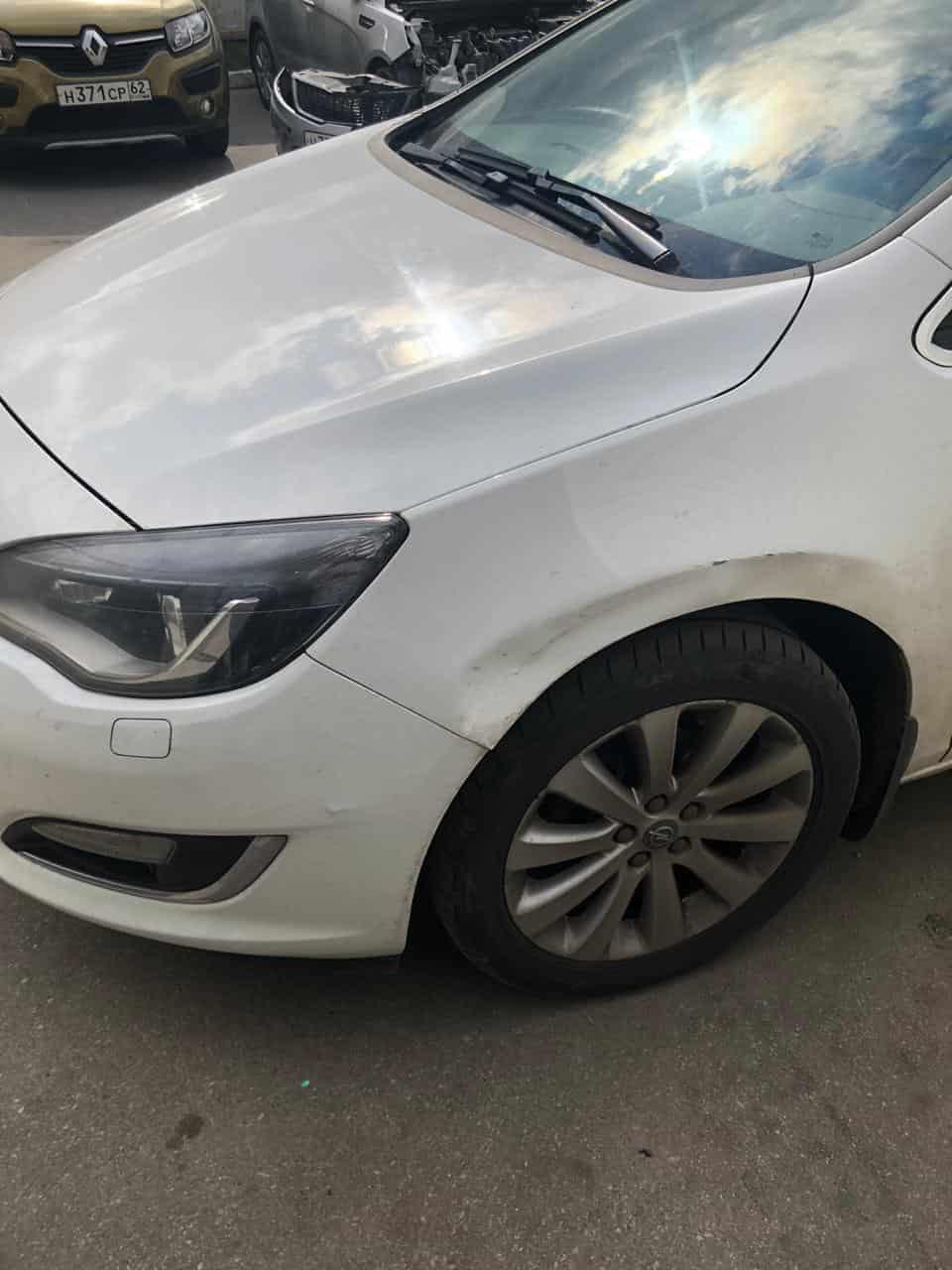 фото авто опель после ремонта бампера