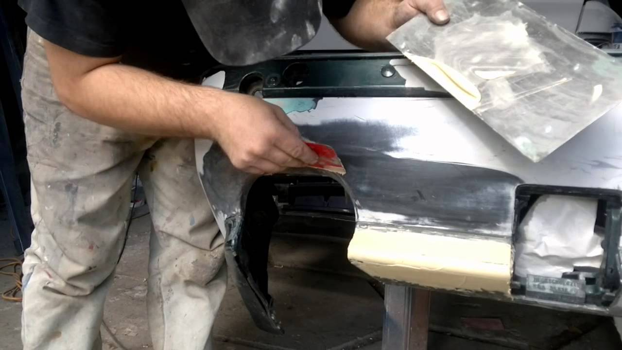 фото ремонт пластикового бампера