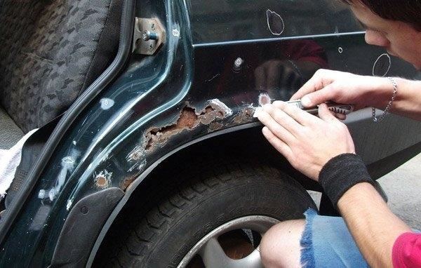фото удаление ржавчины на авто