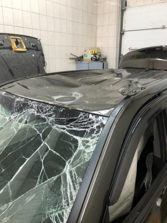 Фото до кузовного ремонта Kia
